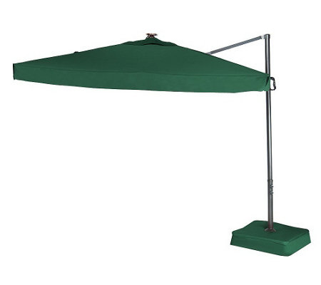 """As Is"" Southern Casual Olefin Offset Umbrella with Solar Lights"