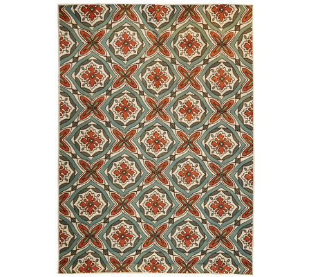 Scott Living 7x10 Medallion Design Indoor/Outdoor Rug
