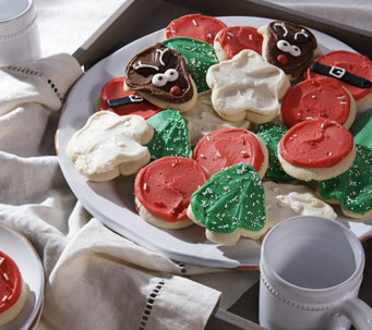 Cheryl's 36 Piece Holiday Frosted Cutout Cookies - M52250
