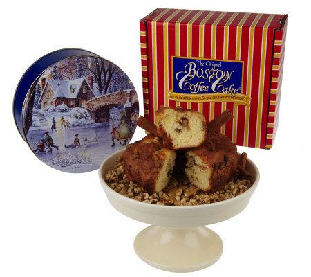 Boston Coffee Cake 8-Inch Cinnamon Walnut Coffee Cake w ...