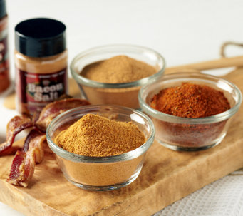 J&D's (2) 6.8 oz. Bacon Salts and 5.2 oz. Bacon Rub Set - M44851