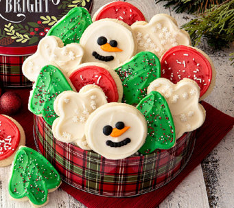 10/31 Cheryl's Merry & Bright 16 pc ButtercreamFrosted Cookies - M114953