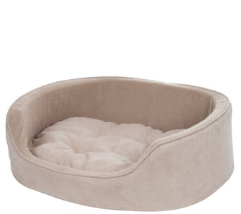 PETMAKER Small Cuddle Round Suede Pet Bed - M115254