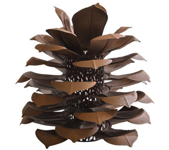 Desert Steel Outdoor Pinecone Luminary - M50954