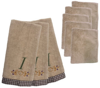 Don Aslett's 8-Piece Monogram Kitchen Towel andCloth Set - M113555