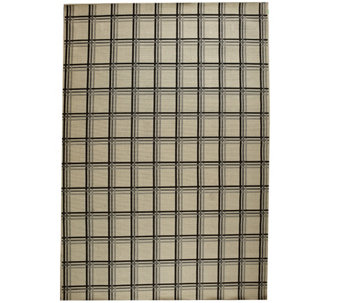 Scott Living 8x10 Windowpane Plaid Indoor/Outdoor Rug - M48555
