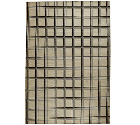 Scott Living 8x10 Windowpane Plaid Indoor/Outdoor Rug