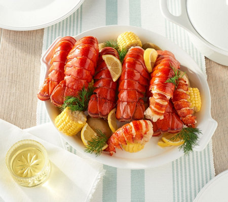SH6/4 Greenhead Lobster (8) 4-5-oz HPP Maine Lobster Tails w/ Butter