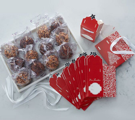 Mrs. Prindable's 12 Candy Bar Flavor Apples With Gift Boxes