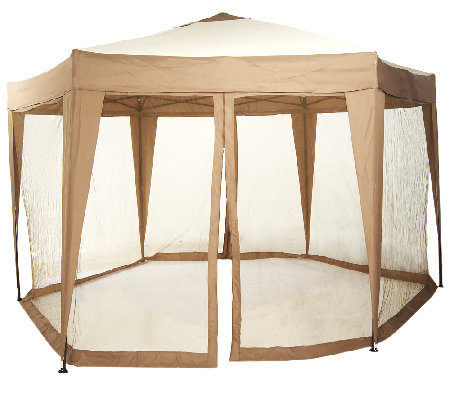 Bliss Hammocks 13 ft. Hexagon Gazebo with Mosquito Netting