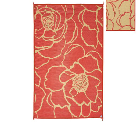 Barbara King Bloom 5'x8' Reversible Outdoor Mat by PatioMats