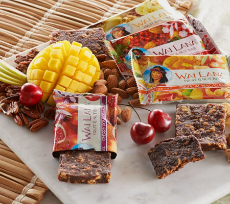 Wai Lana Bars (16) 2 oz. Fruit and Nut Bar Assortment