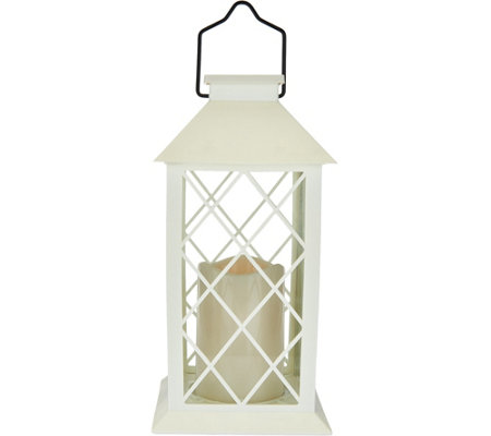 Barbara King Indoor/Outdoor Solar Lantern with Flameless Candle