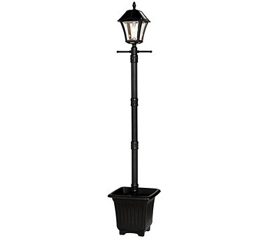 Gama Sonic 6.5' Solar Lamp Post with Planter & LED Light Bulb - M55956