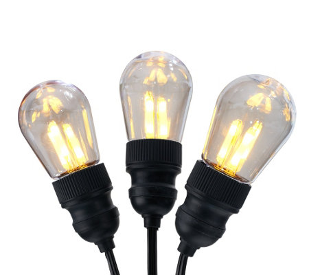"""As Is"" BethlehemLights 13.5' Vintage Edison Bulb Light Strand"