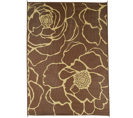 Barbara King Bloom 8'x11' Reversible Outdoor Mat by PatioMats
