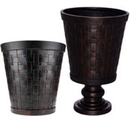 "Scott Living Choice of 16"" or 24"" Woven Design Planter"