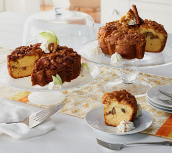 My Grandma's (2) 28 oz. Cinnamon Walnut & Granny Apple Coffee Cakes - M51457