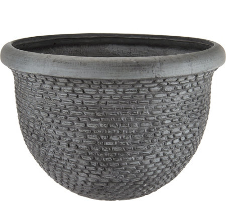 "Scott Living 20"" Tweed Basket Planter"