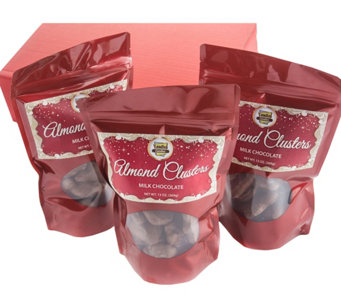 Landies Candies Milk Chocolate Almond Cluster 3bags - M115358