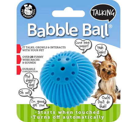 Pet Qwerks Small Talking Babble Ball - Blue