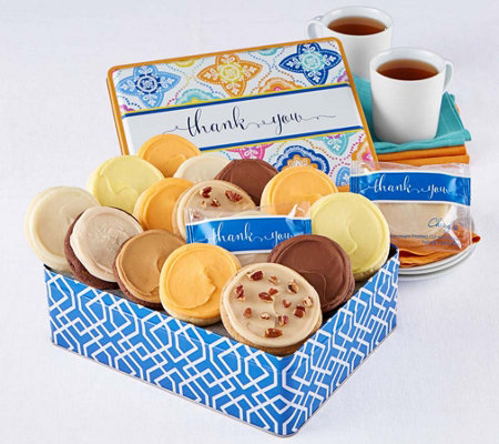Cheryl's Thank You Gift Tin - 16 Frosted Cookies