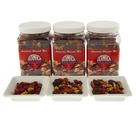 Germack(3) 17oz Jars American Harvest Nut & Fruit Mix