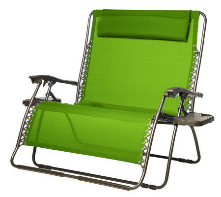 Bliss Hammocks 2 Person Gravity Free Recliner With Pillow