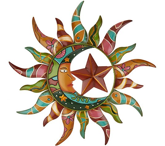 Plow Hearth Talavera Sun Moon Wall Art Qvc Com