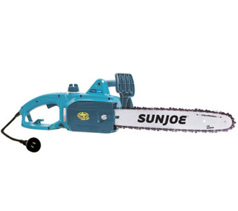 "Sun Joe 14"" 9-Amp Electric Chain Saw w/ Accessories - M48159"