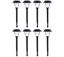 Duracell Set of 8 Solar Pathway Lights with Color Lock - M52459
