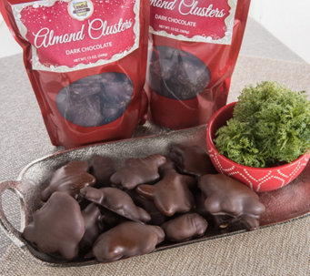 Landies Candies Dark Chocolate Almond Cluster 3Bags - M115360