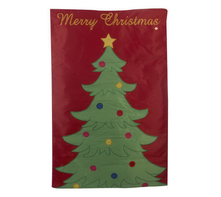 Fiber Optic Holiday House Flag with Built-in Timer