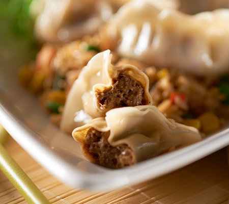The Perfect Gourmet (35) Buffalo Chicken BBQ Pork or Veg Potstickers