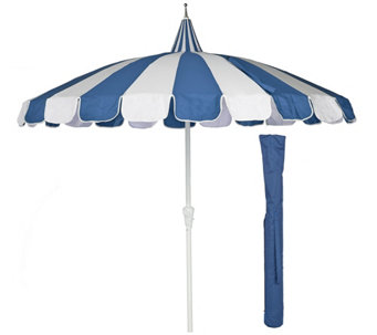 ED On Air 8' Pagoda Umbrella w/ Cover by Ellen DeGeneres - M49560