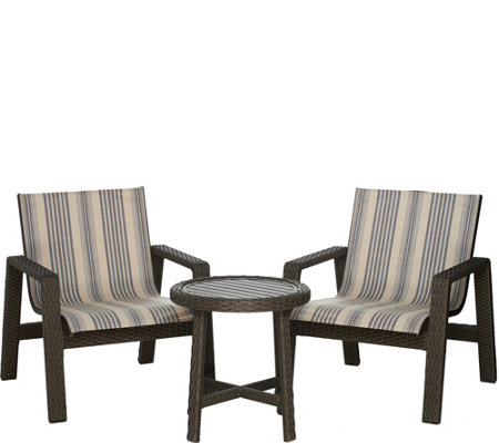 Scott Living 3-piece Buenos Aires Wicker Patio Seating Set