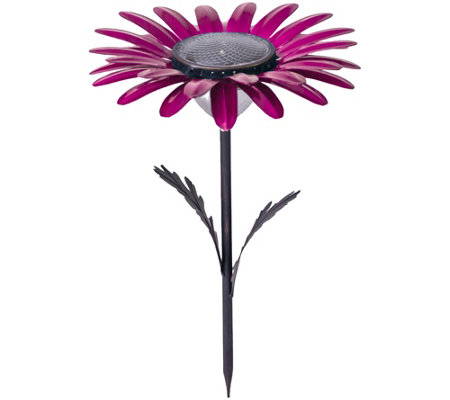 Solar Flower Stake by Desert Steel