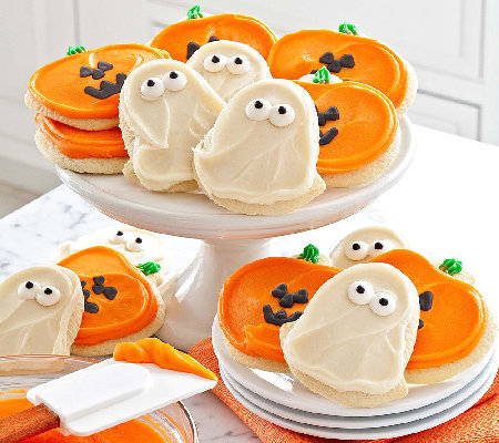 Cheryl's 24-Piece Ghost/Jack-O'-Lantern Frosted Cutout Cookies