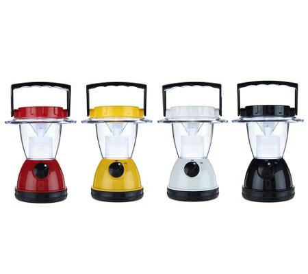 set of 4 battery operated led lanterns