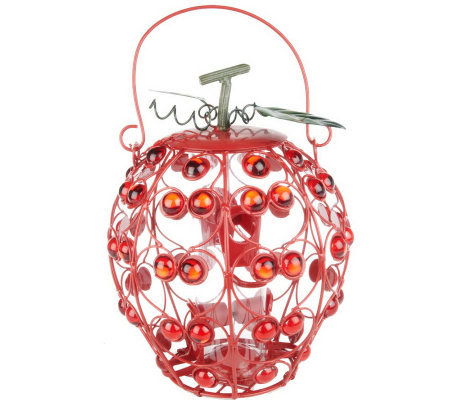 Metal Filigree Fruit Shaped Bird Feeder