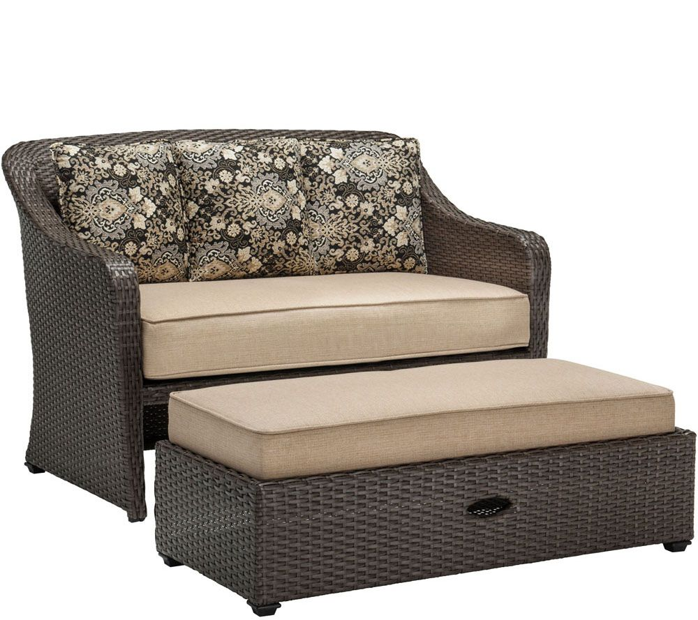 Hanover Cuddle Chair and a Half with Storage Ottoman QVCcom