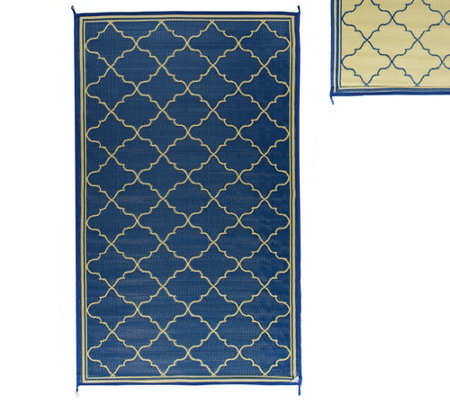 Barbara King Fret Design 5'x 8' Reversible Outdoor Mat