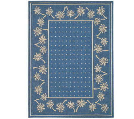"Safavieh Courtyard Palm Garden 4' x 5'7"" Rug with Sisal Weave"