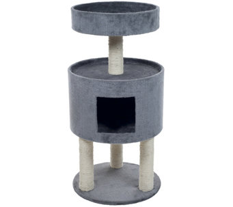 Petmaker Kitty Cat Condo with Overhead Balcony - M115264