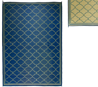 Barbara King Fret Design 8'x 11' Reversible Outdoor Mat - M49164