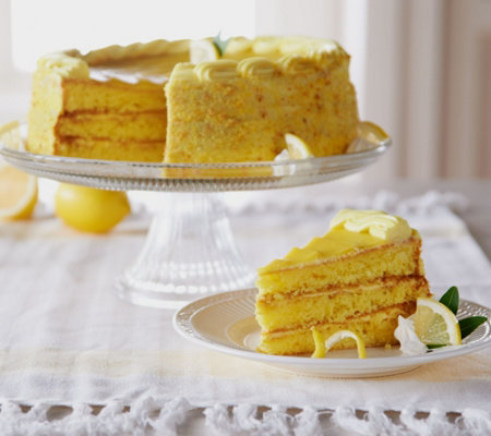 Sweet Endings 4 lbs. 12 oz. Sweet Meyer Lemon Layer Cake