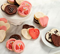 Cheryl's 24 Piece Valentine's Frosted Cookie Assortment - M53864