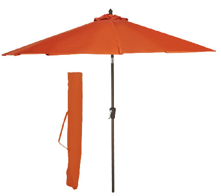 ATLeisure 9' EZ-Tilt Patio Umbrella with 2 Canopies & Removable Cover