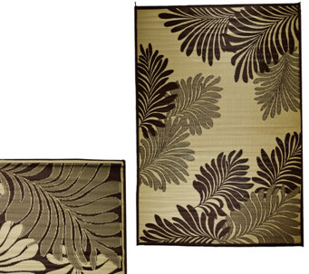 Barbara King Leaf 5'x 8' Reversible Outdoor Mat - M49165