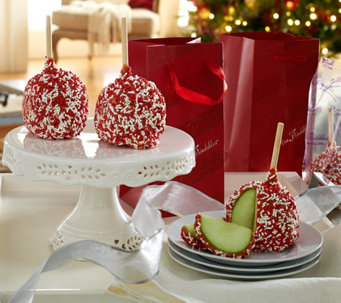 Mrs. Prindables Set of 10 Individual Size Sprinkle Apples w/ Holiday Bags - M51965